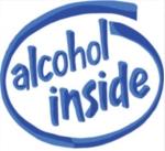 alcohol inside