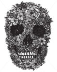 skull-made-of-flowers