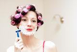 beautiful-funny-young-woman-shaving-foam-razor-her-face